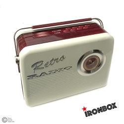 "Boite métal vintage ""RADIO BOIS"""