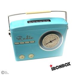 "Boite métal vintage ""RADIO BLUE"""