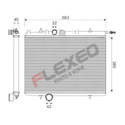 Radiateur Aluminium PEUGEOT 206 S16 RC