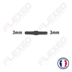 Raccord connecteur droit pour tuyau et durite diamètre 3mm
