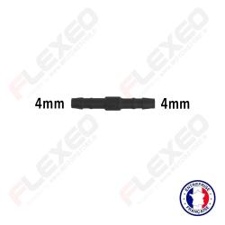 Raccord connecteur droit pour tuyau et durite diamètre 4mm
