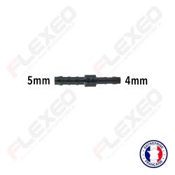Raccord connecteur réducteur droit 5mm-4mm