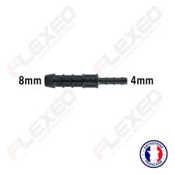 Raccord connecteur réducteur droit 8mm-4mm