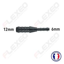 Raccord connecteur réducteur droit 12mm-6mm