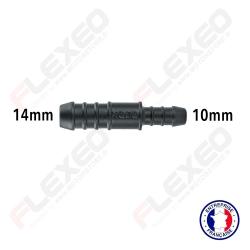 Raccord connecteur réducteur droit 14mm-10mm