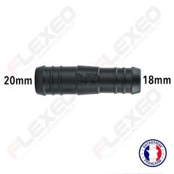 Raccord connecteur réducteur droit 20mm-18mm