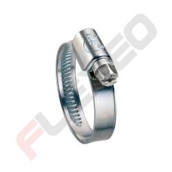 Collier BANDE PLEINE acier zingué W1 Ace - Diamètre 08 - 12 mm