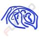 Kit EAU 11 durites silicone SIMCA 1000 / RALLYE / RALLYE 1