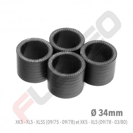 KIT MANCHONS (x4) silicone PEUGEOT 204/304 moteurs XK5 XL5 XL5S